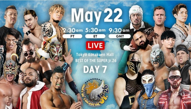 Résultats de NJPW Best of Super Jr 26 - Jour 7