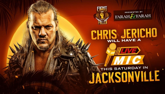 Chris Jericho à micro ouvert pour AEW Fight For The Fallen
