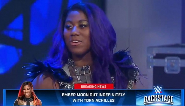 Ember Moon confirme sa blessure