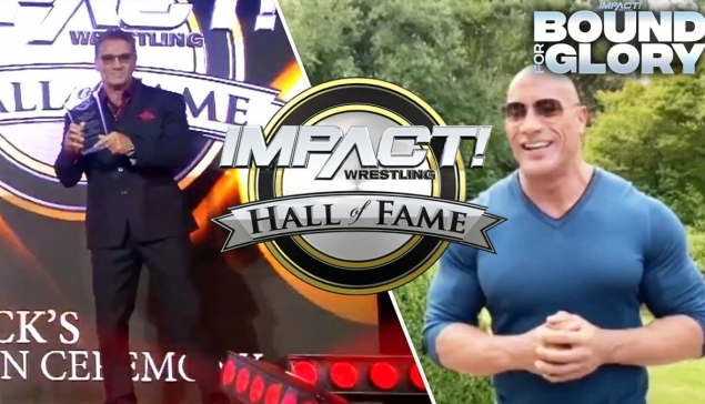 Ken Shamrock introduit au Impact Wrestling Hall of Fame par The Rock