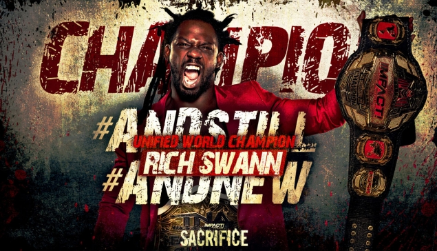 Impact Wrestling Sacrifice : Rich Swann premier double champion