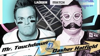 Chikara Ladder Match Mr Touchdown VS Dasher Hatfield